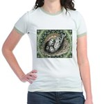 Nesting Pigeons Decorative Jr. Ringer T-Shirt