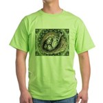 Nesting Pigeons Decorative Green T-Shirt
