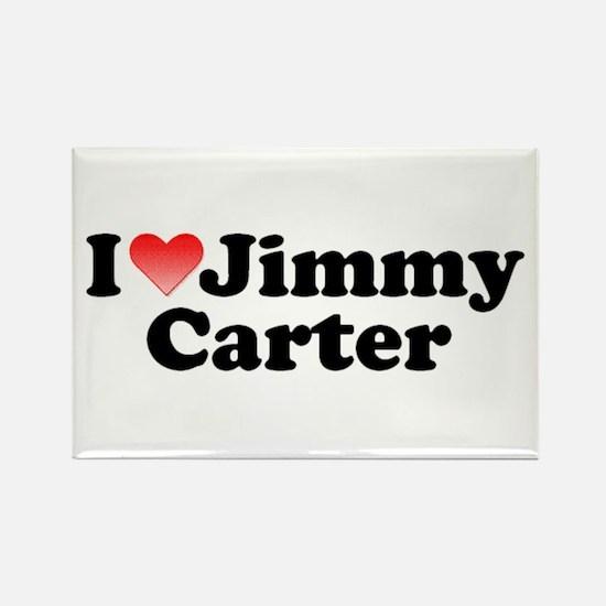 I Love Jimmy Carter Rectangle Magnet
