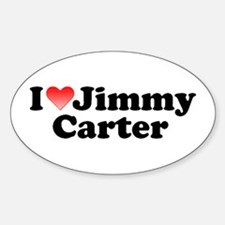 I Love Jimmy Carter Oval Decal