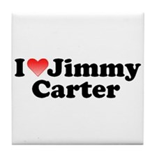 I Love Jimmy Carter Tile Coaster