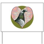Racing Pigeon Heart Yard Sign