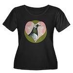 Racing Pigeon Heart Women's Plus Size Scoop Neck D