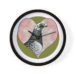 Racing Pigeon Heart Wall Clock