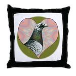 Racing Pigeon Heart Throw Pillow