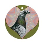 Racing Pigeon Heart Ornament (Round)