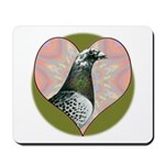Racing Pigeon Heart Mousepad