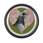 Racing Pigeon Heart Large Wall Clock
