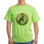 Racing Pigeon Heart Green T-Shirt