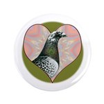 "Racing Pigeon Heart 3.5"" Button (100 pack)"