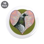 "Racing Pigeon Heart 3.5"" Button (10 pack)"