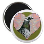 "Racing Pigeon Heart 2.25"" Magnet (100 pack)"