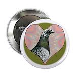 "Racing Pigeon Heart 2.25"" Button"