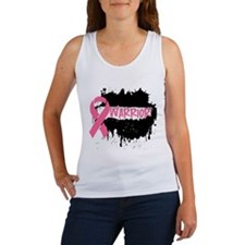 Warrior Grunge Breast Cancer Women's Tank Top