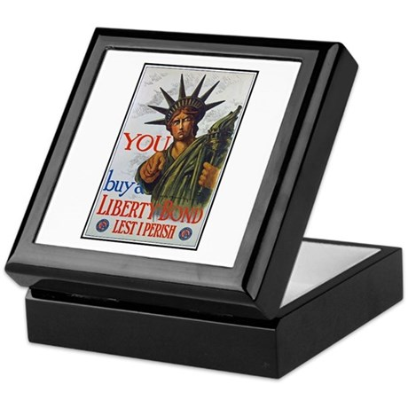 Buy a Liberty Bond Poster Art Keepsake Box