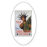 Buy a Liberty Bond Poster Art Oval Sticker