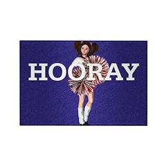 TOP Hooray Cheer Rectangle Magnet (10 pack)