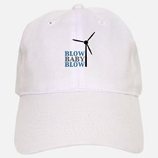 Blow Baby Blow (Wind Energy) Baseball Baseball Cap
