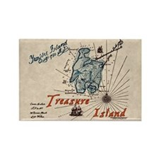 Treasure Island Rectangle Magnet