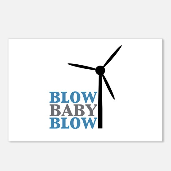 Blow Baby Blow (Wind Energy) Postcards (Package of