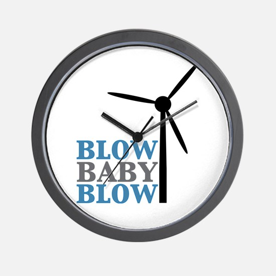 Blow Baby Blow (Wind Energy) Wall Clock