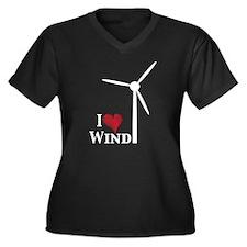 I love wind Women's Plus Size V-Neck Dark T-Shirt