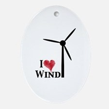 I love wind Ornament (Oval)