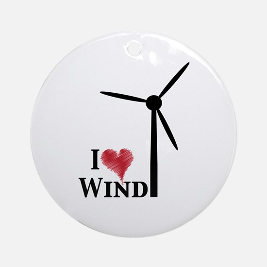I love wind Ornament (Round)