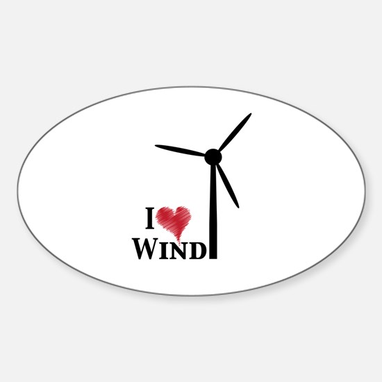 I love wind Sticker (Oval)