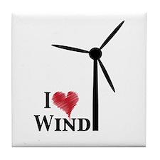 I love wind Tile Coaster