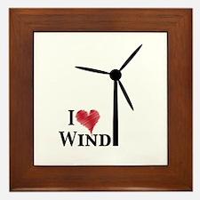I love wind Framed Tile