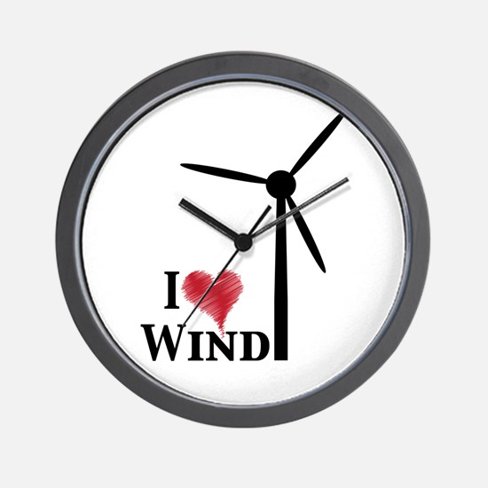I love wind Wall Clock