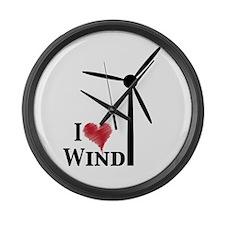 I love wind Large Wall Clock