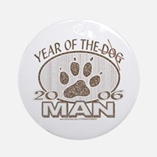 Year of the Man Paw Print Ornament (Round)