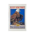 Keep Him Free Eagle Rectangle Magnet