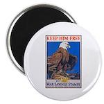 Keep Him Free Eagle Magnet
