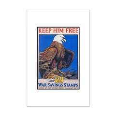 Keep Him Free Eagle Posters
