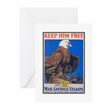Keep Him Free Eagle Greeting Cards (Pk of 10)