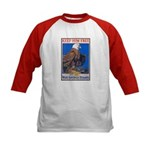 Keep Him Free Eagle (Front) Kids Baseball Jersey