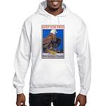 Keep Him Free Eagle (Front) Hooded Sweatshirt