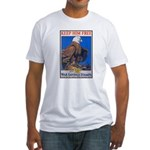 Keep Him Free Eagle (Front) Fitted T-Shirt