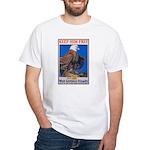 Keep Him Free Eagle White T-Shirt