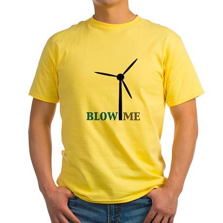 Blow Me (Wind Turbine) Yellow T-Shirt