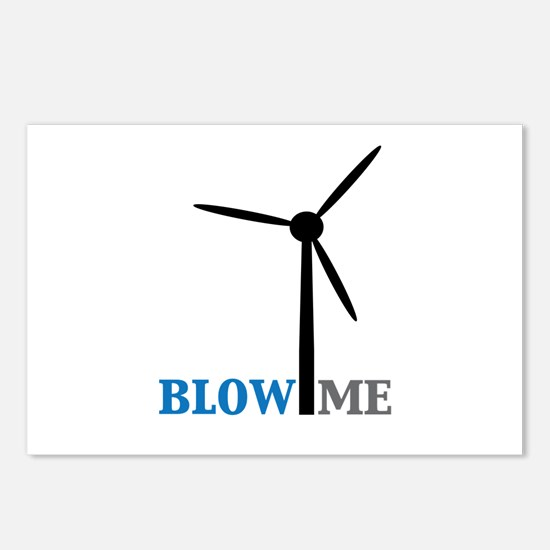 Blow Me (Wind Turbine) Postcards (Package of 8)