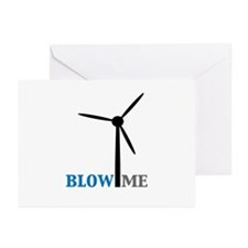 Blow Me (Wind Turbine) Greeting Cards (Pk of 20)