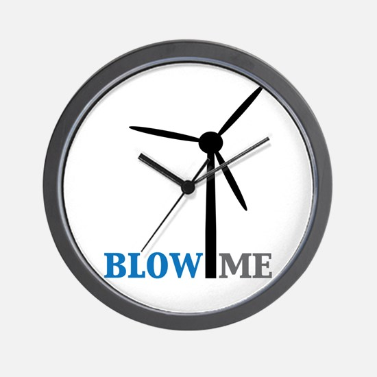 Blow Me (Wind Turbine) Wall Clock
