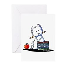 Back To School Westie Greeting Cards (Pk of 20)