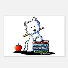 Back To School Westie Postcards (Package of 8)