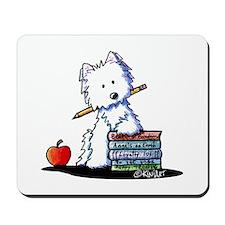 Back To School Westie Mousepad