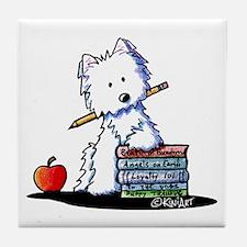 Back To School Westie Tile Coaster